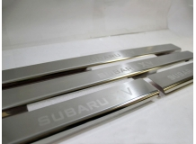Накладки на пороги Subaru XV /2011+/. Накладки порогов Субару ХВ [NataNiko]