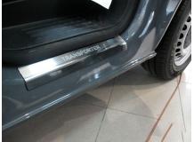 Накладки на пороги Volkswagen Caravelle T5 /2003-2015/. Накладки порогов Фольксваген Каравелла [NataNiko]
