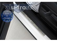 Накладки на пороги Volkswagen Golf Plus /2004-2014/. Накладки порогов Фольксваген Гольф Плюс [Alu-Frost]