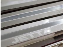 Накладки на пороги Volkswagen Jetta V /2005-2010/. Накладки порогов Фольксваген Джетта [NataNiko]