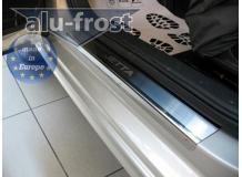 Накладки на пороги Volkswagen Jetta VI /2010+/. Накладки порогов Фольксваген Джетта [Alu-Frost]