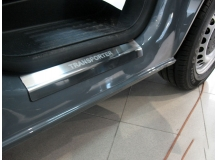 Накладки на пороги Volkswagen Multivan T5 /2003-2015/. Накладки порогов Фольксваген Мультиван [NataNiko]
