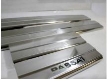 Накладки на пороги Volkswagen Passat B5 /1996-2005/. Накладки порогов Фольксваген Пассат [NataNiko]
