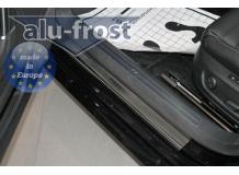 Накладки на пороги Volkswagen Passat B6 /2005-2010/. Накладки порогов Фольксваген Пассат [Alu-Frost]