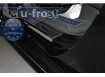 Накладки на пороги Volkswagen Passat B7 /2010-2014/. Накладки порогов Фольксваген Пассат [Alu-Frost]