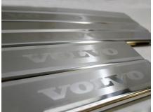 Накладки на пороги Volvo V40 /2012+/. Накладки порогов Вольво В40 [NataNiko]