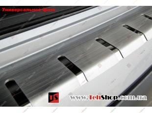 Накладка на задний бампер BMW X1 (E84) /2009-2012/. Накладка бампера с загибом БМВ Х1 [Alu-Frost]