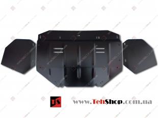 Защита двигателя Audi A6 (C5) /1997-2004/. Защита картера двигателя Ауди А6 [Titan]