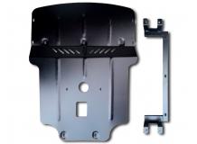 Защита двигателя BMW 3 (E46) /1998-2006, задний привод/. Защита картера двигателя и радиатора БМВ 3 [Titan]