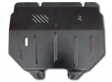 Защита двигателя Citroen Berlingo I /1996-2005/. Защита картера двигателя и КПП Ситроен Берлинго [Titan]