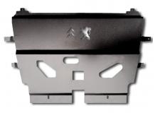 Защита двигателя Citroen Berlingo II /2008+/. Защита картера двигателя и КПП Ситроен Берлинго [Titan]