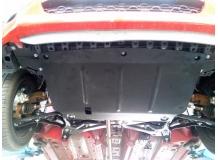 Защита двигателя Citroen C1 I /2005-2014/. Защита картера двигателя и КПП Ситроен С1 [Titan]