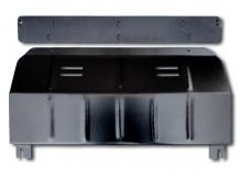 Защита двигателя Citroen Jumpy II /V1.6, V2.0, 2007+/. Защита картера двигателя и КПП Ситроен Джампер [Titan]