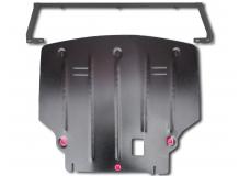 Защита двигателя Ford B-Max /V1.0T EcoBoost, 2012+/. Защита картера двигателя и КПП Форд Би-Макс [Titan]