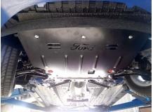 Защита двигателя Ford Fiesta VI /2008+/. Защита картера двигателя и КПП Форд Фиеста [Titan]