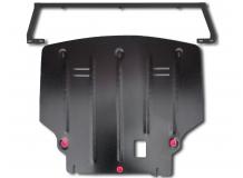 Защита двигателя Ford Fiesta VI /FL, V1.0T EcoBoost, 2012+/. Защита картера двигателя и КПП Форд Фиеста [Titan]
