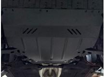 Защита двигателя Ford Focus III /V1.0T EcoBoost, 2011+/. Защита картера двигателя и КПП Форд Фокус [Titan]