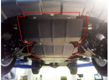 Защита двигателя Great Wall Haval H5 /2010+/. Защита картера двигателя и радиатора Грейт Вол Хавал Н5 [Titan]
