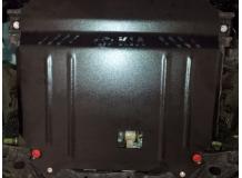 Защита двигателя Hyundai Accent IV (Solaris) /2011-2016, Рос. сб./. Защита картера двигателя и КПП Хюндай Акцент [Titan]