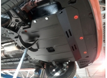 Защита двигателя Hyundai i10 II /2013+/. Защита картера двигателя и КПП Хюндай i10 [Titan]
