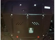Защита двигателя Hyundai ix35 /2010+, сверху пыльника/. Защита картера двигателя и КПП Хюндай ix35 [Titan]