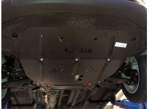 Защита двигателя Kia Sportage III /сверху пыльника, 2010-2015/. Защита картера двигателя и КПП Киа Спортейдж [Titan]
