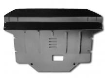 Защита двигателя Kia Sportage III /вместо пыльника, 2010-2015/. Защита картера двигателя и КПП Киа Спортейдж [Titan]