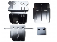 Защита двигателя Mitsubishi L200 IV /2006-2015/. Защита картера двигателя, МКПП и радиатора Мицубиси Л200 [Titan]