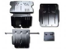 Защита двигателя Mitsubishi L200 IV /2006-2015/. Защита картера двигателя, РКПП и радиатора Мицубиси Л200 [Titan]