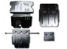 Защита двигателя Mitsubishi Pajero Sport II /2008+/. Защита двигателя, РКПП и радиатора Мицубиси Паджеро Спорт [Titan]
