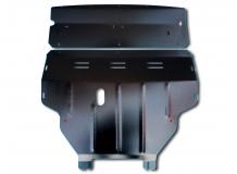 Защита двигателя Nissan Primastar /2001-2014, V1.9/. Защита картера двигателя, КПП и радиатора Ниссан Примастар [Titan]