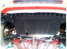 Защита двигателя Peugeot 107 /2005-2014/. Защита картера двигателя и КПП Пежо 107 [Titan]