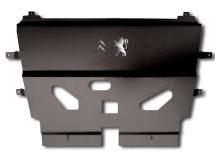 Защита двигателя Peugeot Partner II /2008-2018/. Защита картера двигателя и КПП Пежо Партнер [Titan]