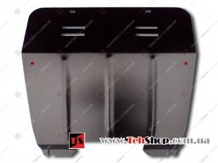 Защита двигателя Renault Kangoo I /2005-2009, FL/. Защита картера двигателя и КПП Рено Кенго [Titan]
