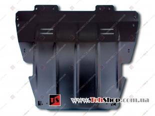 Защита двигателя Renault Kangoo II /2007+/. Защита картера двигателя и КПП Рено Кенго [Titan]