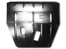 Защита двигателя Renault Koleos I /2008-2016/. Защита картера двигателя и КПП Рено Колеос [Titan]