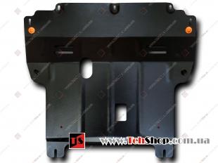 Защита двигателя Renault Megane II /2002-2008, дизель/. Защита картера двигателя и КПП Рено Меган [Titan]