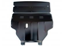 Защита двигателя Renault Trafic II /2001-2014, V1.9/. Защита картера двигателя, КПП и радиатора Рено Трафик [Titan]
