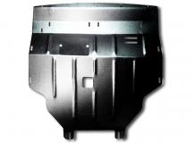 Защита двигателя Renault Trafic II /2001-2014, V2.5/. Защита картера двигателя, КПП и радиатора Рено Трафик [Titan]