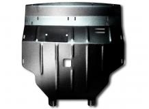 Защита двигателя Renault Trafic II /2001-2014, V2.0/. Защита картера двигателя, КПП и радиатора Рено Трафик [Titan]