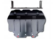 Защита двигателя Seat Leon II (1P) /2005-2012/. Защита картера двигателя и КПП Сеат Леон [Titan]
