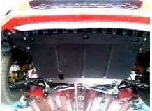 Защита двигателя Toyota Aygo I /2005-2014/. Защита картера двигателя и КПП Тойота Айго [Titan]