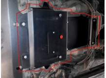 Защита двигателя Toyota LC Prado 120 /2002-2009/. Защита картера двигателя и радиатора Тойота Прадо 120 [Titan]