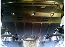 Защита двигателя Volkswagen Caddy III /2004+, webasto/. Защита картера двигателя и КПП Фольксваген Кадди [Titan]