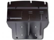 Защита двигателя Volkswagen Caravelle T5 /2003-2015, с крыльями/. Защита двигателя и КПП Фольксваген Каравелла [Titan]