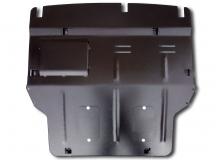 Защита двигателя Volkswagen Multivan T5 /2003-2015, с крыльями/. Защита двигателя и КПП Фольксваген Мультиван [Titan]