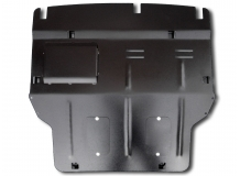 Защита двигателя Volkswagen Multivan T6 /2015+, с крыльями/. Защита двигателя и КПП Фольксваген Мультиван [Titan]