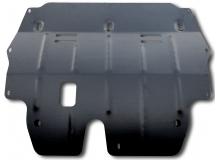 Защита двигателя Volkswagen Polo V /FL, V1.2T, V1.2TD, 2014+/. Защита картера двигателя и КПП Фольксваген Поло 5 [Titan]